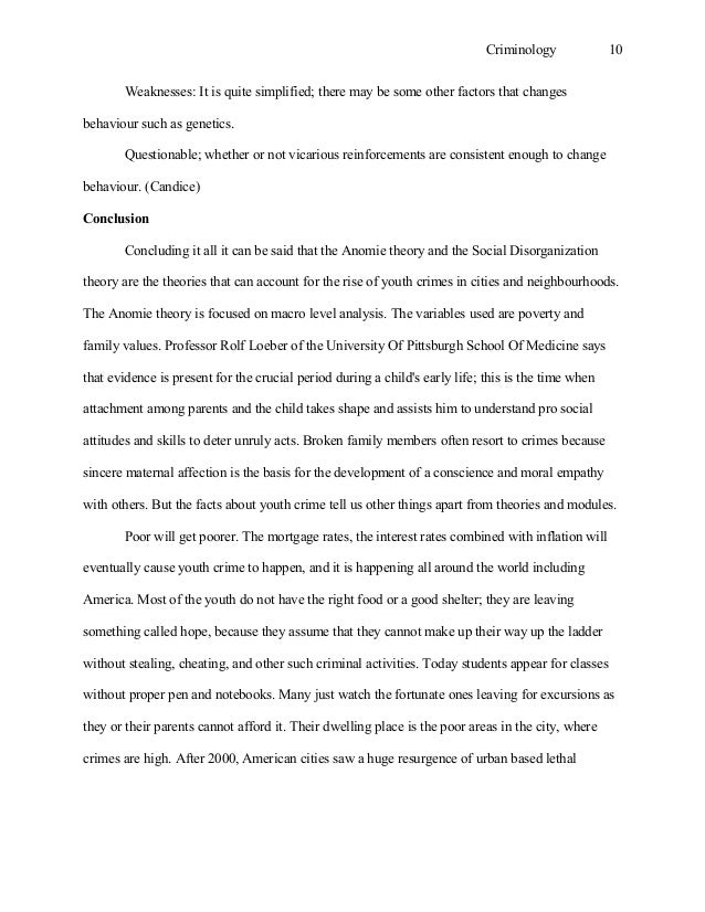 criminology essay criminology