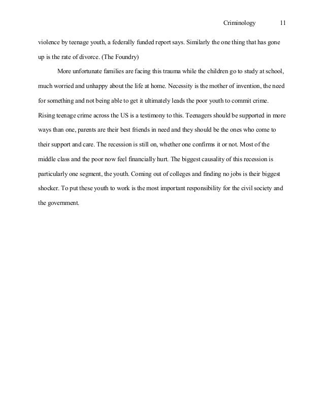 criminology essay 11