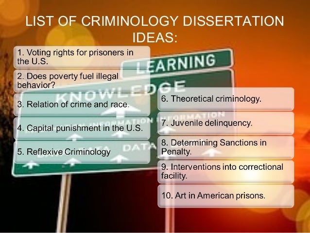 Find Your Criminology Dissertation Topics