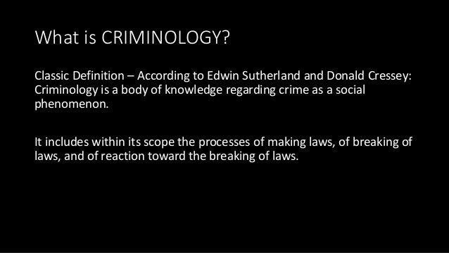 crime is a social phenomenon