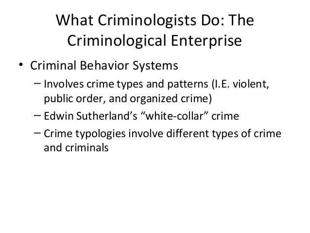 criminology theories that explain organized crime Economic crime: theory there is no widely accepted definition of economic crime, and it is impossible to enumerate briefly the various definitions, theories, and offenses included in this category.