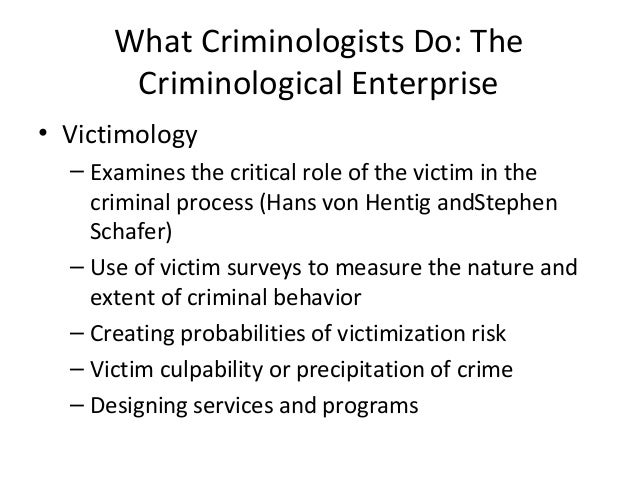 von hentig s theory of victimization Von hentig's theory of victimization - identifies risk factors that could be associated with victims victimology: definition, theory & history related study.