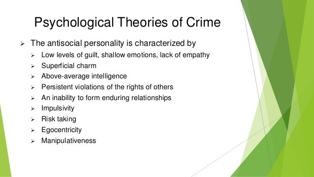 criminal theories Labeling theory: those who follow the labeling theory of criminology ascribe to the fact that an individual will become what he is labeled or what others expect him to become the danger comes from calling a crime a crime and a criminal a criminal.