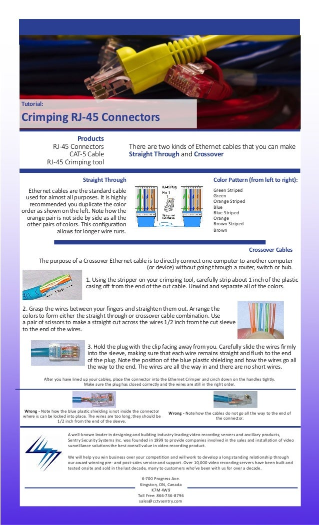 crimping rj 45 cablestutorial crimping rj 45 connectors a well known leader in designing and building