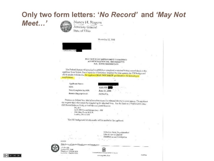 Criminal record amp expungement presentation only two form letters no record and may not meet altavistaventures Images