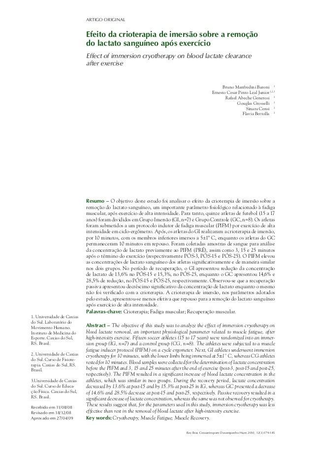 ARTIGO ORIGINAL Rev Bras Cineantropom Desempenho Hum 2010, 12(3):179-185 Resumo – O objetivo deste estudo foi analisar o e...