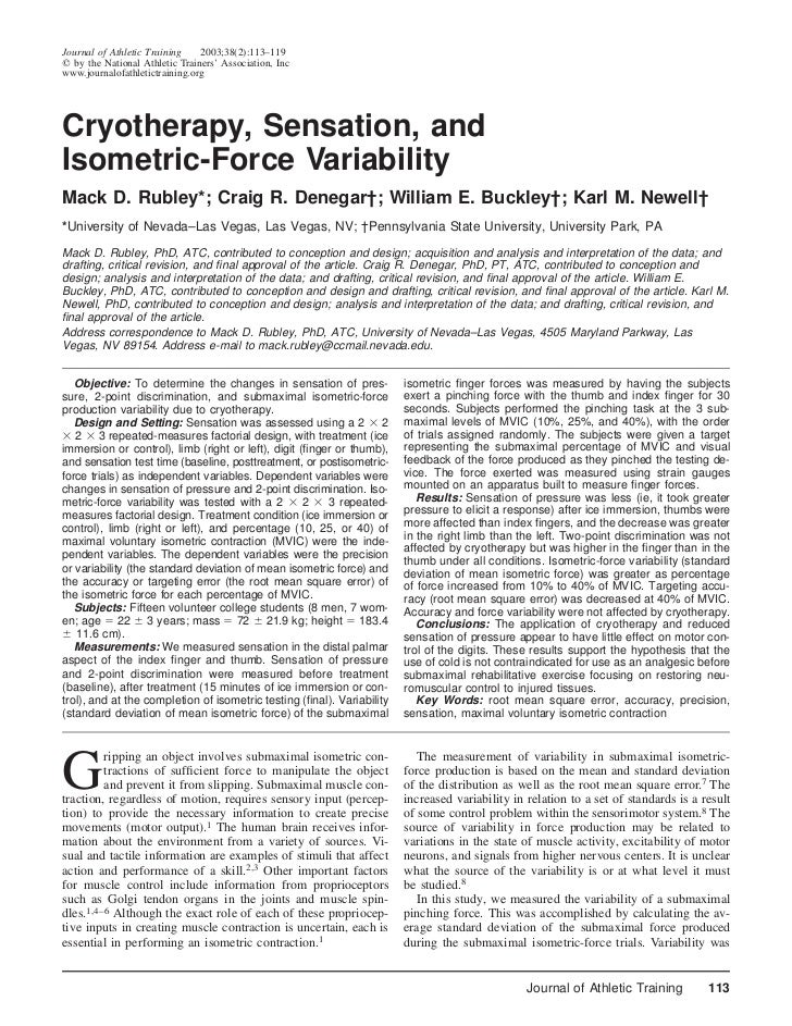Journal of Athletic Training    2003;38(2):113–119  by the National Athletic Trainers' Association, Incwww.journalofathlet...