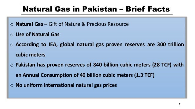 Natural Gas Prices In Pakistan