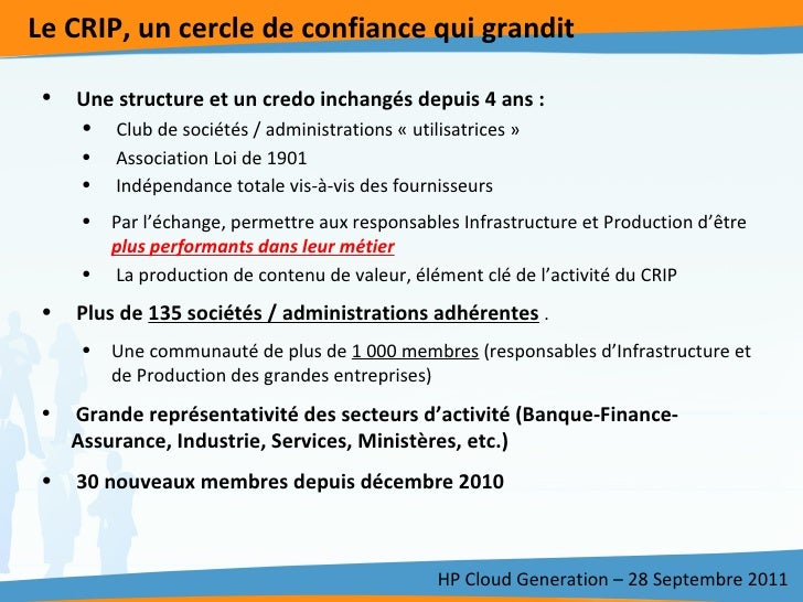 CRIP HP Cloud Generation Slide 3