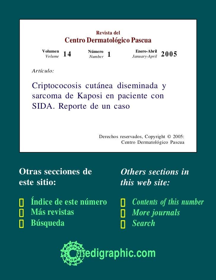Revista del                 Centro Dermatológico Pascua       Volumen          Número                Enero-Abril        Vo...