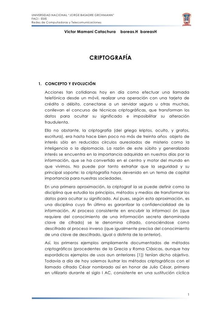 "UNIVERSIDAD NACIONAL ""JORGE BASADRE GROHMANN"" FACI - ESIIS Redes de Computadoras y Telecomunicaciones                    V..."