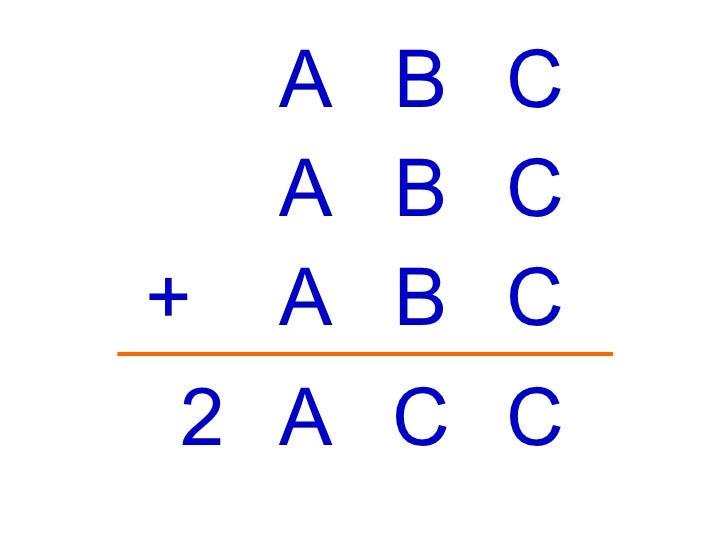 A B C + A B C A C C A B C 2