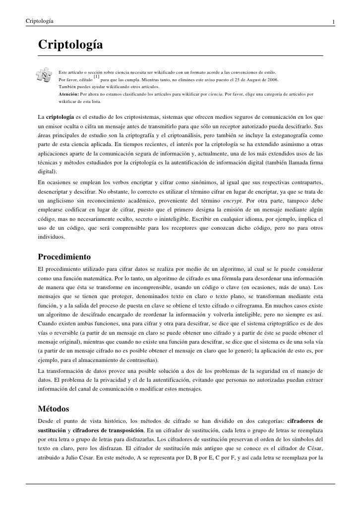 Criptología                                                                                                               ...