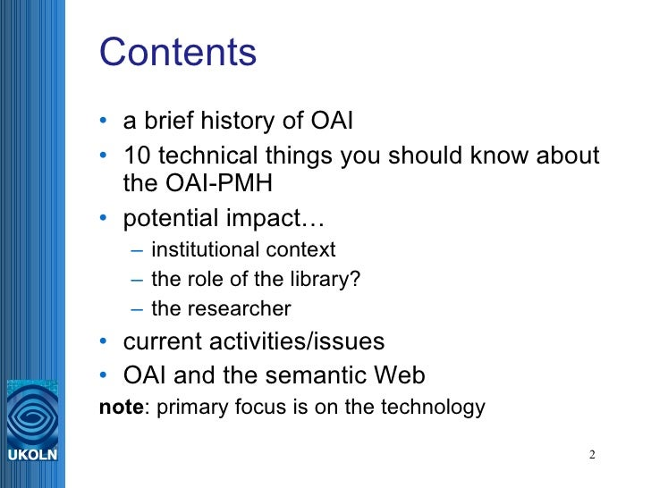 The Open Archives Initiative P...