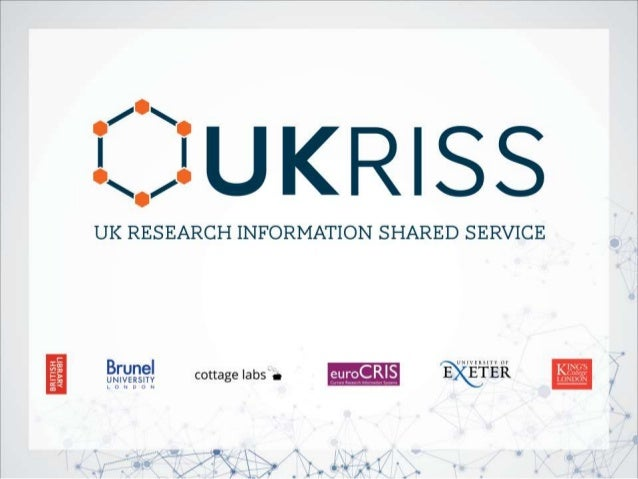 www.eurocris.org Harmonising Research Reporting in the UK – Experience and Outputs from UKRISS CRI 2014, Rome, May 13th, 2...