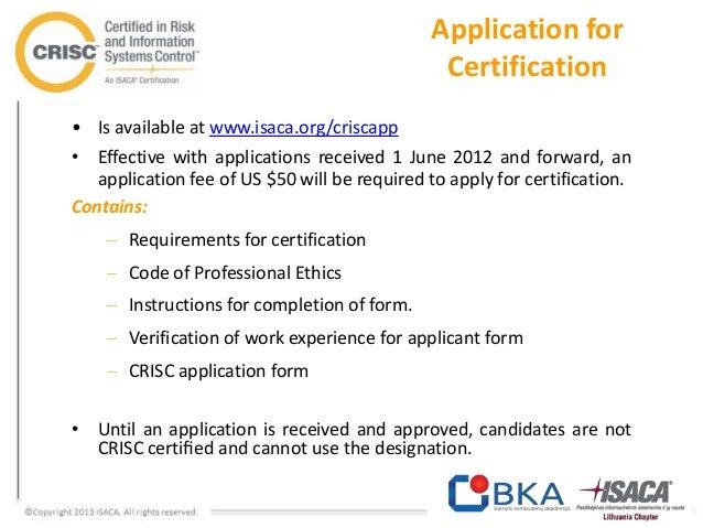 CRISC sertifikacija