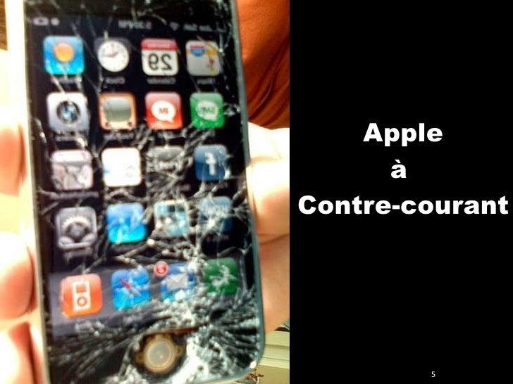 Apple à  Contre-courant