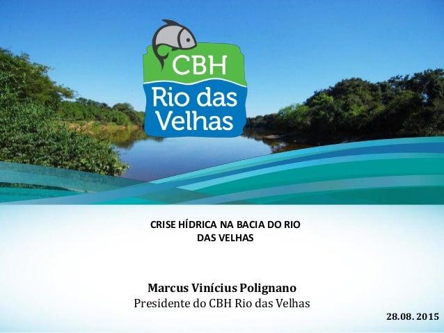 Marcus Vinícius Polignano Presidente do CBH Rio das Velhas 28.08. 2015 CRISE HÍDRICA NA BACIA DO RIO DAS VELHAS