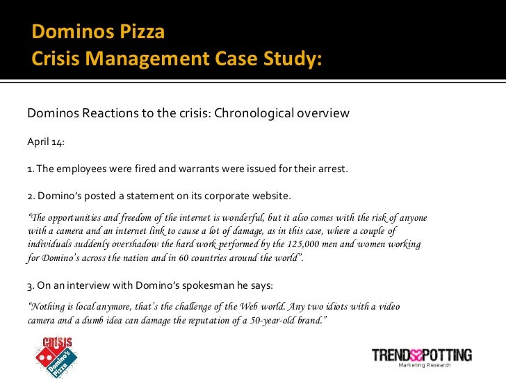 Dominos Crisis: A Look At Dominos Pizza's Social Media Crisis