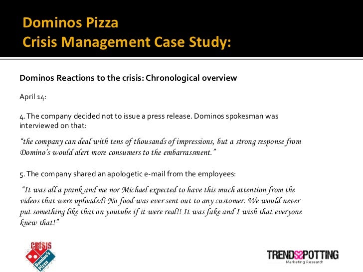 Dominos response offers lessons in crisis