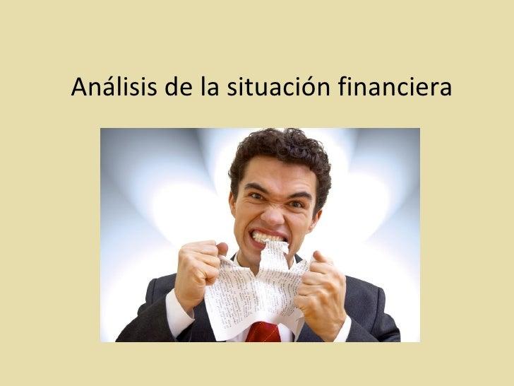 Análisis de la situación financiera
