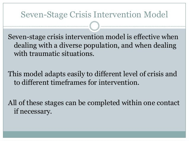 abc model of crisis intervention Nursing best practice guidelines home the abc model of crises intervention a: identify pre-crisis level of functioning in 1-4 above.