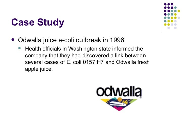 odwalla case study The ultimate crisis, all of odwalla's apple and carrot products were  a famous  case study when it comes to crisis pr, pepsi was involved in a.