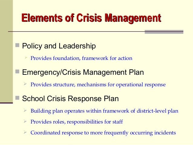 the importance of a disaster situation crisis action checklist during a crisis Introduction what is crisis communications communications during a crisis situation is related to special olympics description of the crisis or disaster.