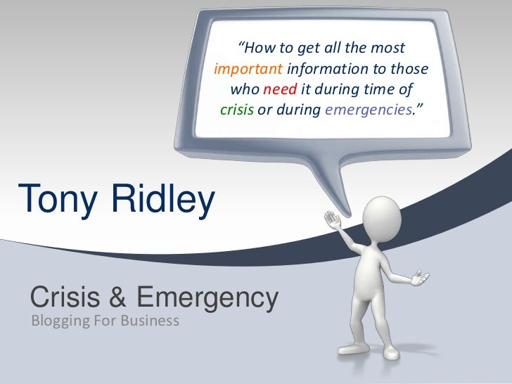 """How to get all the most important information to those who need it during time of crisis or during emergencies.""<br />Cri..."