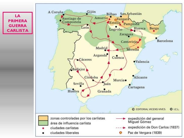Primera Guerra Carlista Mapa.Crisis Ar Elaios