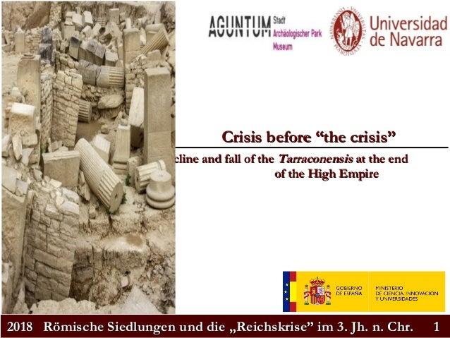 """20182018 Römische Siedlungen und die """"Reichskrise"""" im 3. Jh. n. Chr.Römische Siedlungen und die """"Reichskrise"""" im 3. Jh. n...."""