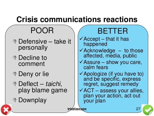 Crisis communication case study