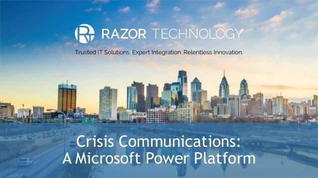 Crisis Communications: A Microsoft Power Platform
