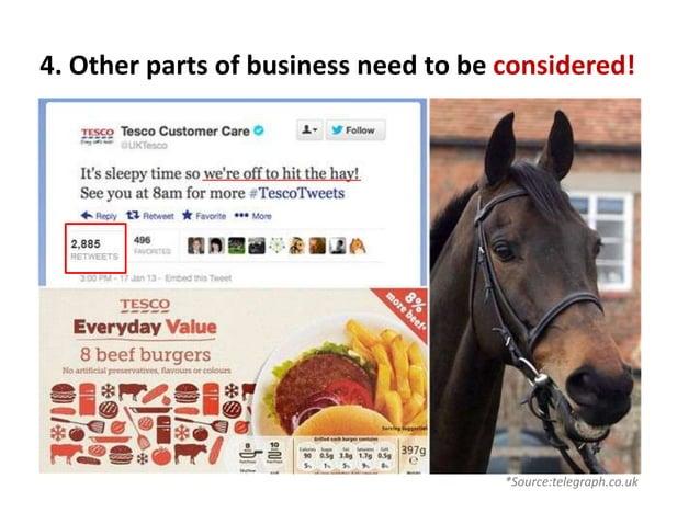 crisis communication case study- Tesco horse meat scandal