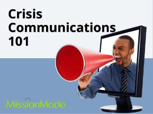 Crisis Communications 101