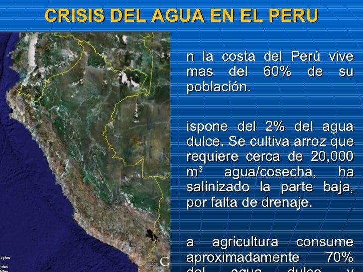 Crisis del agua como consecuencia del calentamiento de la for Piletas de agua salada en zona sur