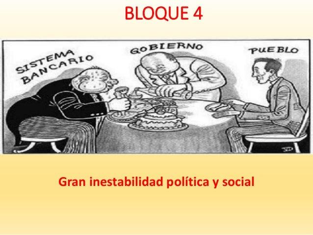 BLOQUE 4 Gran inestabilidad política y social