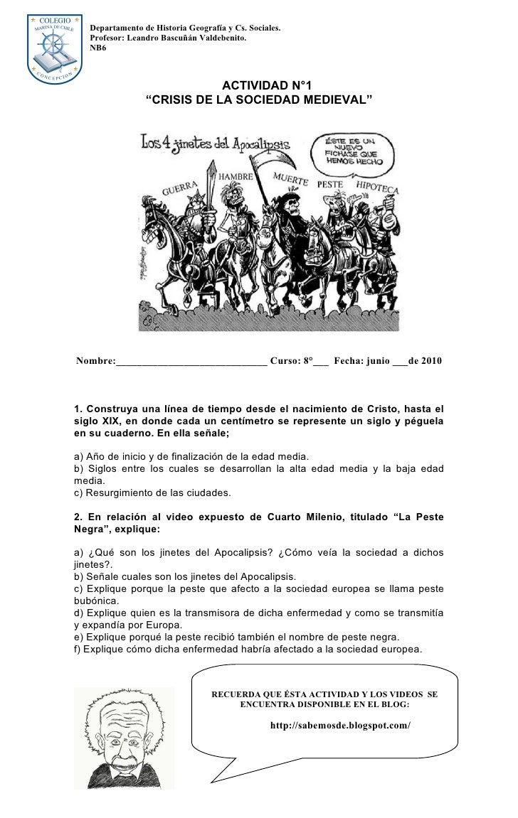 Departamento de Historia Geografía y Cs. Sociales.    Profesor: Leandro Bascuñán Valdebenito.    NB6                      ...
