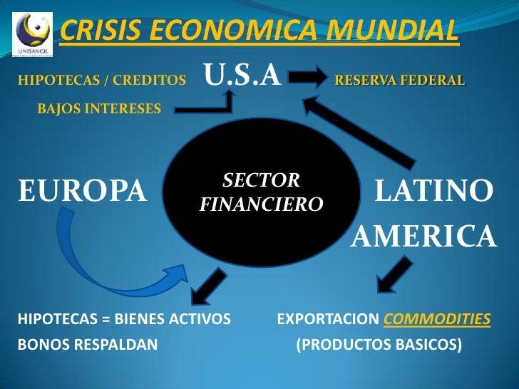 CRISIS ECONOMICA MUNDIAL HIPOTECAS / CREDITOS U.S.A RESERVA FEDERAL   BAJOS INTERESES                             SECTOR E...