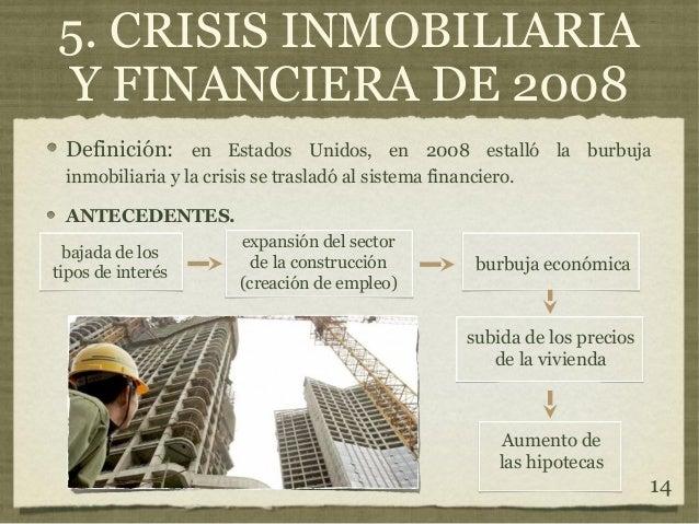 Crisis econ micas s xix y xx gade ugr campus de melilla for Inmobiliaria definicion