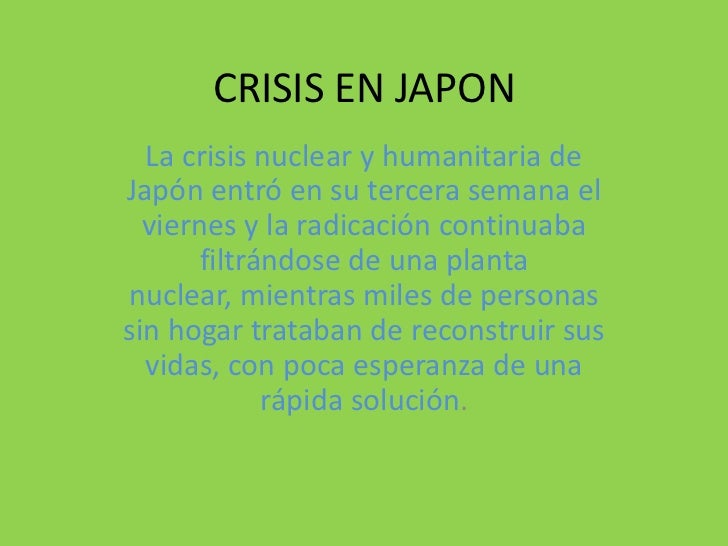 CRISIS EN JAPON<br />La crisis nuclear y humanitaria de Japón entró en su tercera semana el viernes y la radicación contin...