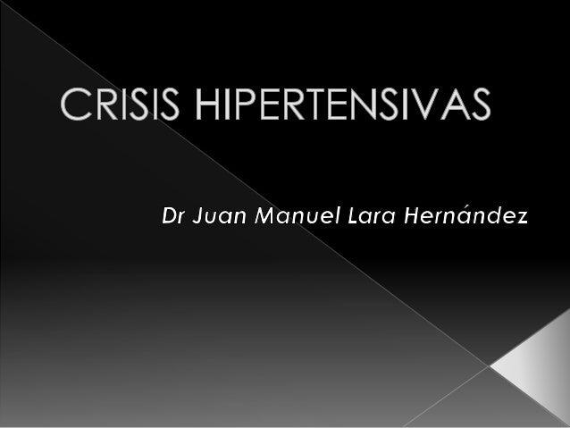 ¿Qué es la crisis hipertensiva?