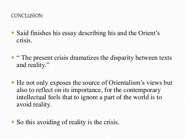 Orientalism Essay Summary