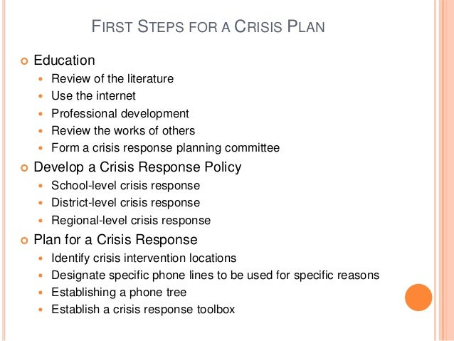 Example behavior intervention plan for high school for Mental health crisis management plan template