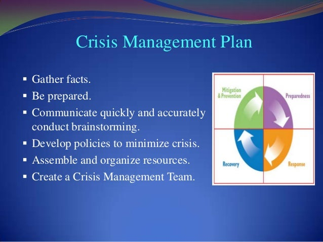 Crisis management types and examples for Sample crisis management plan template