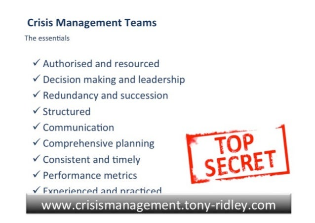 Crisis management.crisis leadership.training.tony ridley.part 1.29