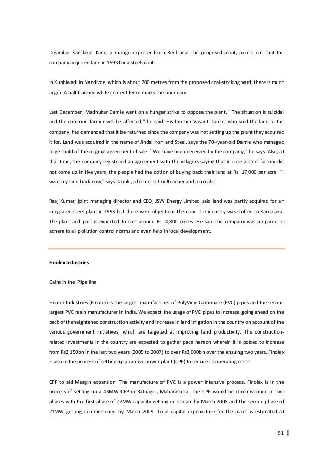 Crisis management finolex powerplant