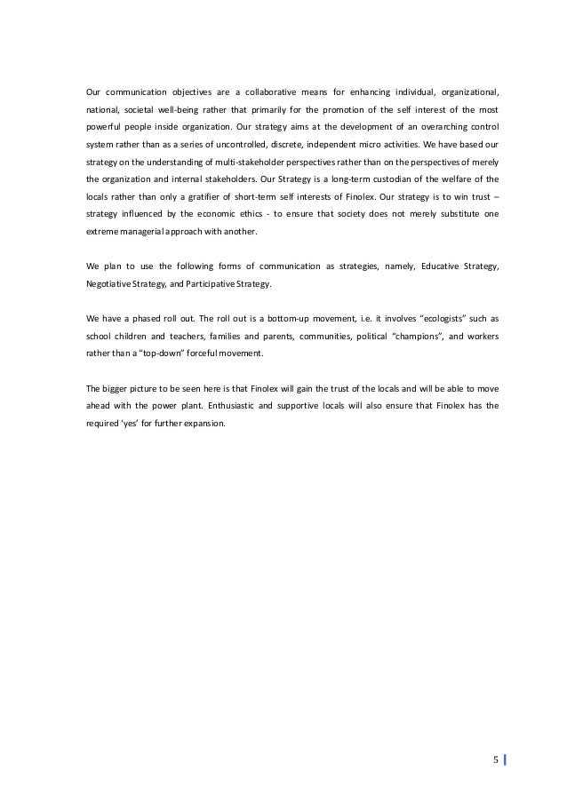 crisis management finolex powerplant 6