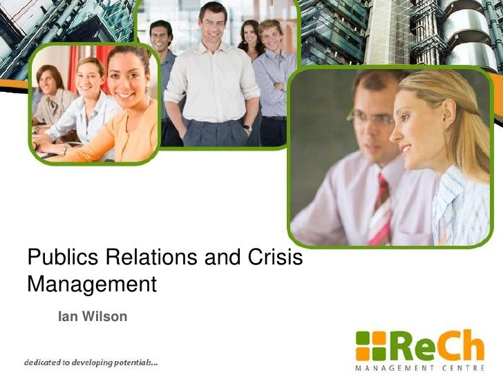 public relations and crisis managemet One of public relations' name is managing a crisis, you know public relations with its name is more and more labeled managing communication and managing a crisis is nothing else than managing communication indeed.