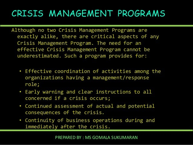 Managing a Crisis Using PR Simulation